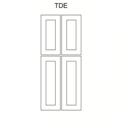 Cabinets, Cubitac Oxford Latte Tall-Decorative-End-Panel-TDE84-TDE90-TDE96