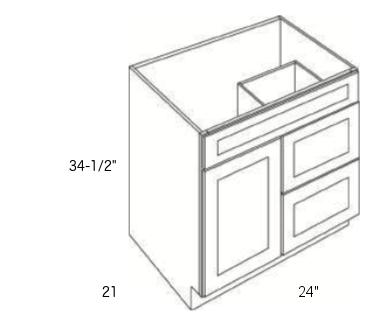 Cabinets, Cubitac Newport Latte, Cubitac Newport Latte Vanity-Combo-V2421D-