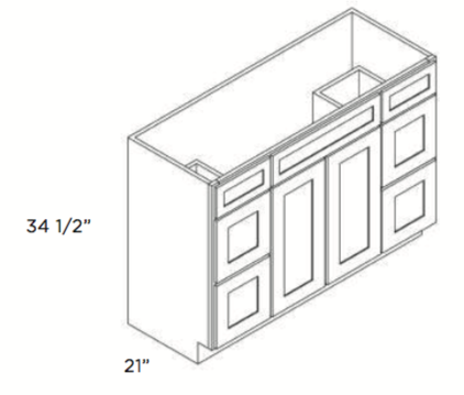Cabinets, Cubitac Belmont Cafe, Cubitac Belmont Cafe Glaze Vanity-Combo-V4221DD-V4221-V4821DD-V4821-
