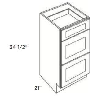 Cabinets, Cubitac Oxford Latte, Cubitac Oxford Latte Vanity-Drawer-Base-VDB1221-VDB1521-VDB1821-