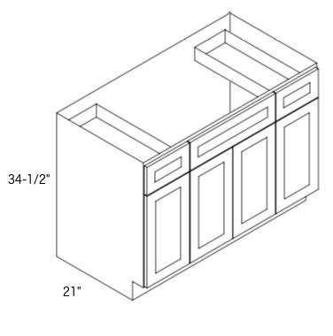 Cabinets, Forevermark Greystone Shaker, Forevermark Greystone Shaker Vanity-Forevermark-s4821b12d-34-1_2-