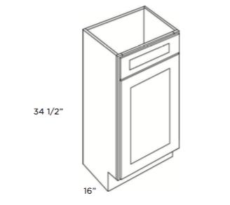 Cabinets, GHI Arcadia White Shaker Vanity-Sink-Base-V1816