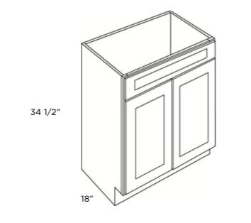 Cabinets, GHI Arcadia White Shaker Vanity-Sink-Base-V2418-V3018
