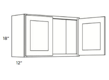 Cabinets, Cubitac Oxford Latte Wall-Cabinet-1818-2118-2418-3018-3318-3618