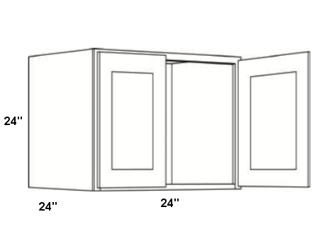 Cabinets, Cubitac Milan Latte Cubitac Milan Shale Wall Cabinet 24W X 24H X 24D