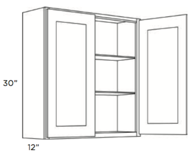 Cabinets, Cubitac Oxford Latte Wall-Cabinet-2430-2730-3030-3330-3630