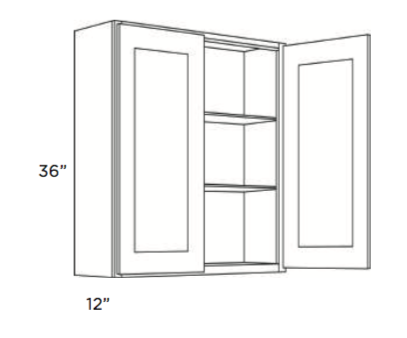 Cabinets, Cubitac Oxford Latte Wall-Cabinet-2436-2736-3036-3336-3636