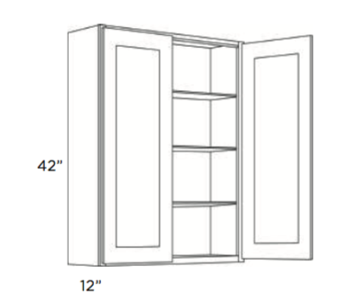 Cabinets, Cubitac Newport Latte Wall-Cabinet-2442-2742-3042-3342-3642