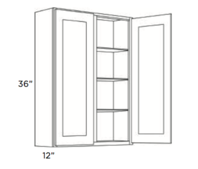 Cabinets, Cubitac Newport Latte Wall-Cabinet-3942-4242