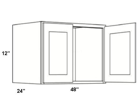 Cabinets, Cubitac Milan Latte Cubitac Wall Cabinet 4812X24
