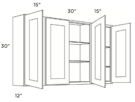 Cabinets, Cubitac Ridgefield Latte Wall-Cabinet-6030