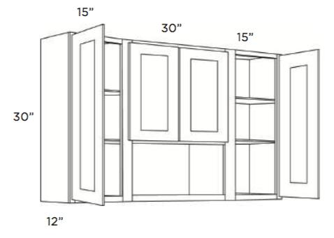 Cabinets, Cubitac Ridgefield Latte Wall-Cabinet-6030-O