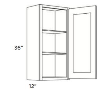 Cabinets, Cubitac Newport Latte Wall-Cabinet-936-1236-1536-1836-2136