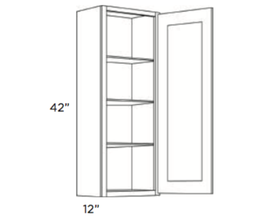 Cabinets, Cubitac Oxford Latte Wall-Cabinet-942-1242-1542-1842-2142