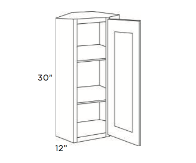 Cabinets, Cubitac Newport Latte Wall-Corner-Cabinet-CW2430