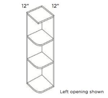 Cabinets, Cubitac Ridgefield Latte Wall-End-Shelf-WS6x30-WS6X36-WS6X42-WS12X30-WS12X36-WS12X42