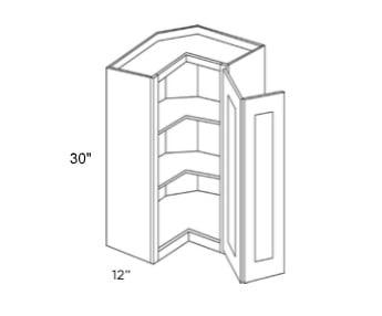 Cabinets, Cubitac Sofia Sable Cubitac Milan Shale Wall Corner Cabinet