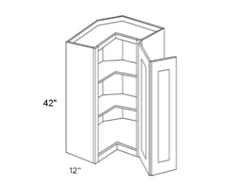 Cabinets, Forevermark Nova Light Grey Cubitac Milan Shale Wall Corner Cabinet