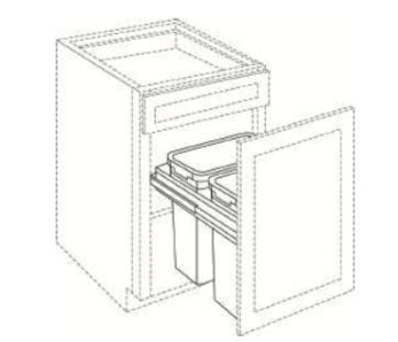 Cabinets, Cubitac Newport Cafe Waste-Basket-BWBK15-1-BWBK18-2-BWBK21-2-SC-BWBK15-1-SC-BWBK18-2-SC-BWBK21-2