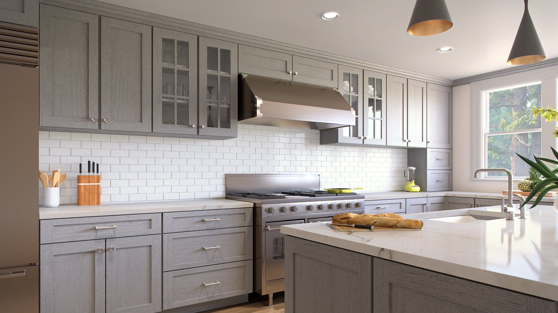 Dark Wood Kitchen Cabinets Gold Hardware