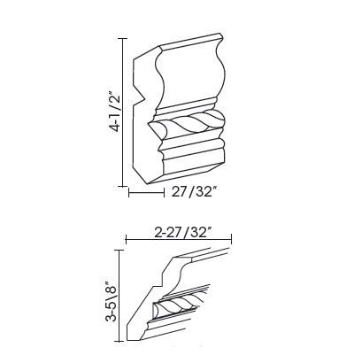 Cabinets, Forevermark K-Series White Forevermak Crown Moldings CM96C Molding