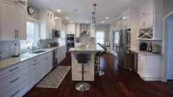 Gramercy White Cabinets with Wood floors