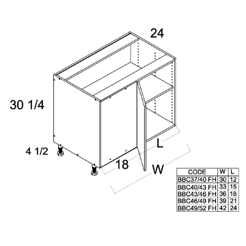 Cabinets, US Cabinet Depot Torino Dark Wood US Cabinet Depot Full Height Base Blind Cabinet