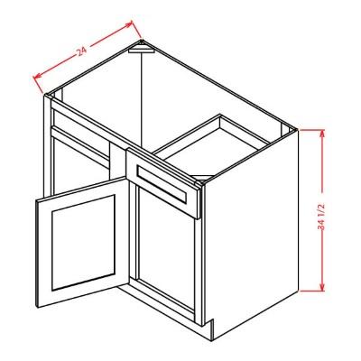 Cabinets, US Cabinet Depot Shaker Antique White US Cabinet Blind Base Cabinet