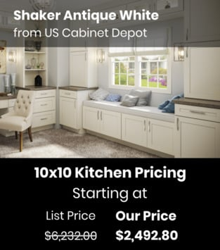 US Cabinet Depot Shaker Antique White