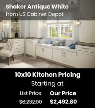 US Cabinet Depot Shaker Antique White