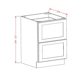 Cabinets, US Cabinet Depot Shaker White US Cabinet Depot Two Drawer Base Cabinet