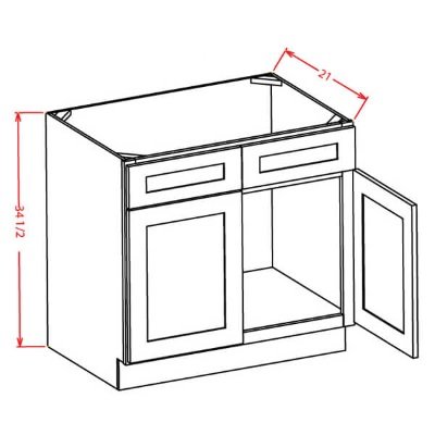 Cabinets, US Cabinet Depot Shaker Dove US Cabinet Depot Sink Base with Double Doors Vanity