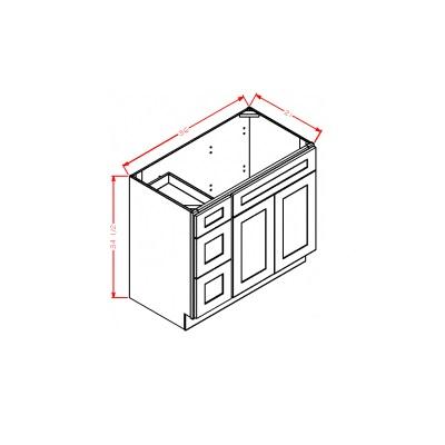 Cabinets, US Cabinet Depot Shaker Antique White US Cabinet Depot Drawer Left Vanity Base