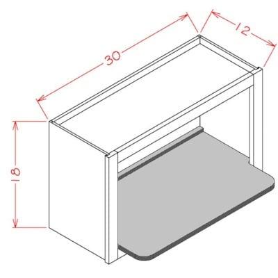 Cabinets, US Cabinet Depot Shaker Grey US Cabinet Depot Wall Microwave Shelf Kit