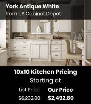 US Cabinet Depot York Antique White