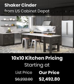 US Cabinet Depot Shaker Cinder