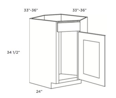 """Cabinets, Cubitac Dover Cafe Cubitac Corner Sink Base Cabinet 33"""" or 36"""""""