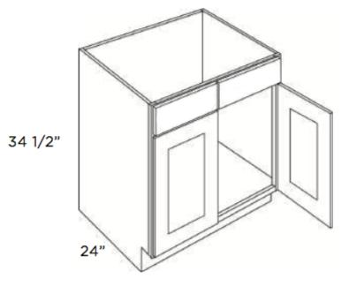 Cabinets, Cubitac Oxford Latte Cubitac Sink Base Cabinet SB24 or SB27 or SB30 or SB33 or SB36