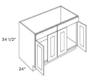 Cabinets, Cubitac Dover Cafe Cubitac Vanity Sink Base SB48