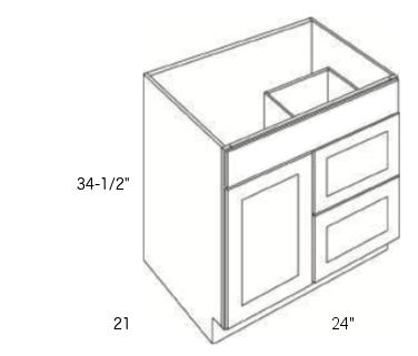 Cabinets, Cubitac Dover Cafe, Cubitac Dover Cafe Cubitac Vanity Combo V2421D