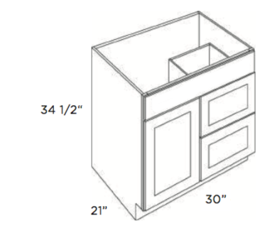 Cabinets, Cubitac Oxford Latte Cubitac Vanity Combo V3021D