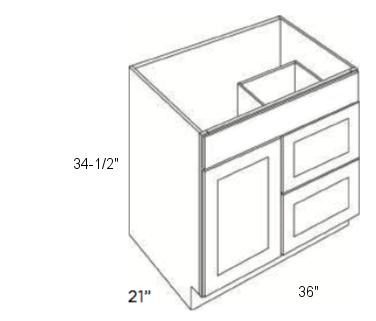 Cabinets, Cubitac Oxford Pastel Cubitac Vanity Combo V3621D