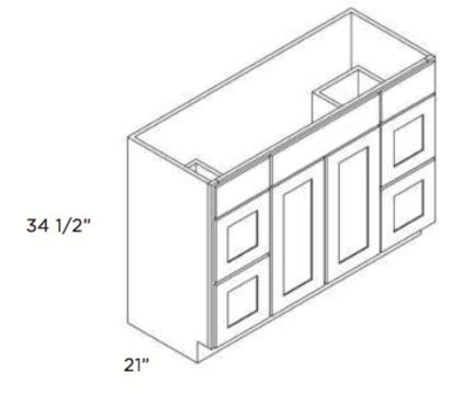 Cabinets, Cubitac Dover Cafe, Cubitac Dover Cafe Cubitac Vanity Combo V4221DD and V4821DD