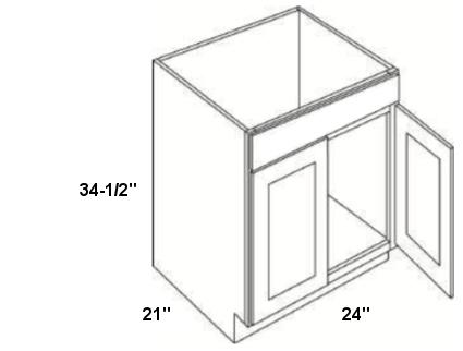 Cabinets, Cubitac Dover Cafe, Cubitac Dover Cafe Cubitac Vanity Sink Base Cabinet V2421