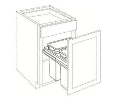 Cabinets, Cubitac Ridgefield Pastel Cubitac Waste Basket / Trash Can Insert