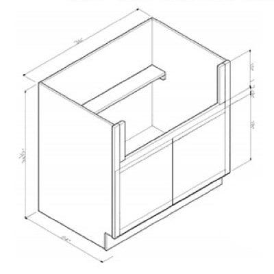 Cabinets, GHI New Castle Gray GHI-Farm-Sink-Base FSB36