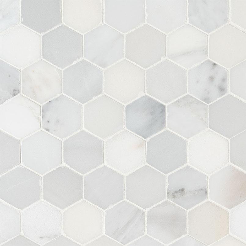 NATURAL STONE MARBLE COLLECTIONS, Tiles and Flooring msi-tiles-flooring-arabescato-carrara-2-hexagon-honed-SMOT-ARA-2HEXH