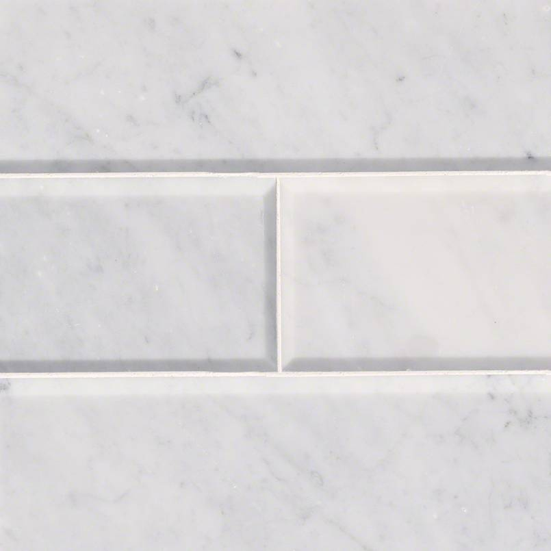 Tile Samples tiles-and-flooring-arabescato-carrara-4x12-honed-and-beveled-TARACAR412HB