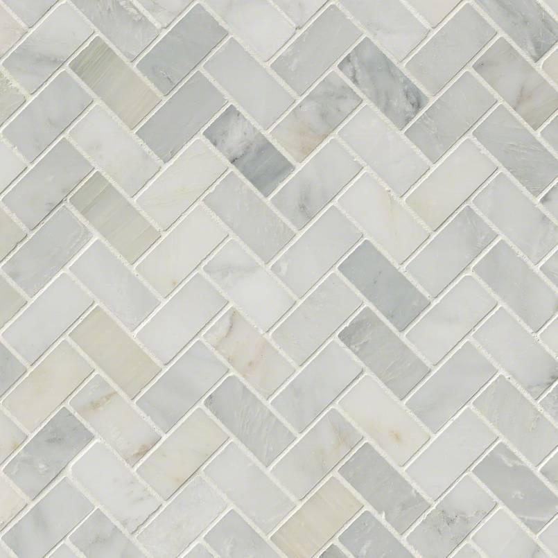 NATURAL STONE MARBLE COLLECTIONS, Tiles and Flooring msi-tiles-flooring-arabescato-carrara-herringbone-mosaic-SMOT-ARA-HBH