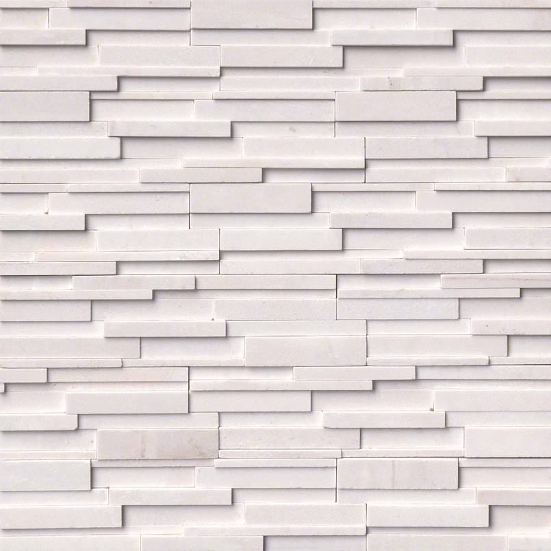 STACKED STONE – ROCKMOUNT, Tiles and Flooring tiles-and-flooring-arctic-white-3d-honed-6x24-panel-2-LPNLMARCWHI624-3DH